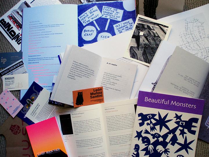 Printed materials from LA Art Book Faire