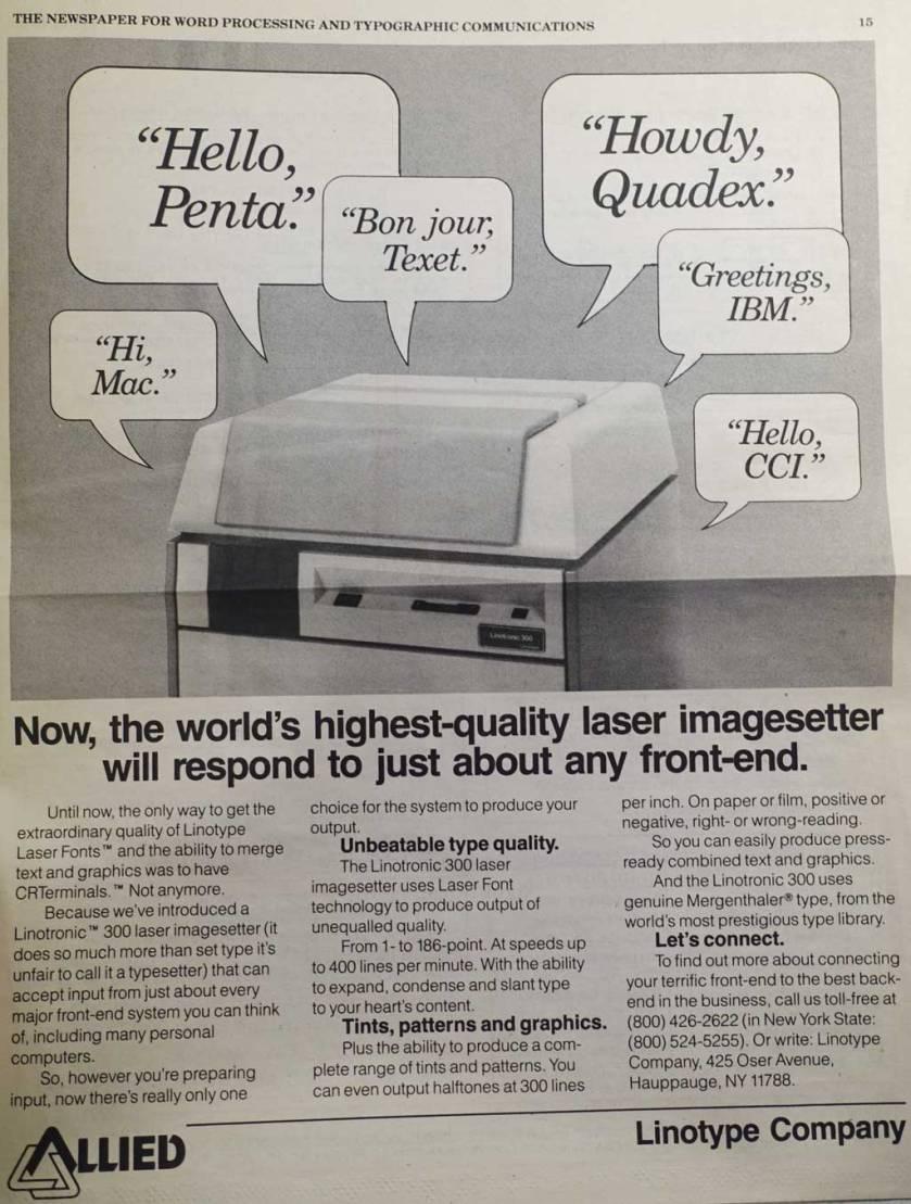 LinotronicAd1989