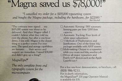 Magna advertisement detail